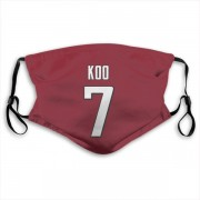 Atlanta Falcons Younghoe Koo Red Jersey Name & Number Face Mask