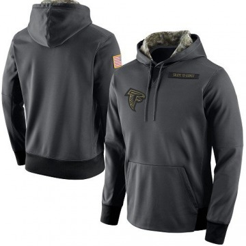 Men's Nike Atlanta Falcons Anthracite Salute to Service Player Performance Hoodie -