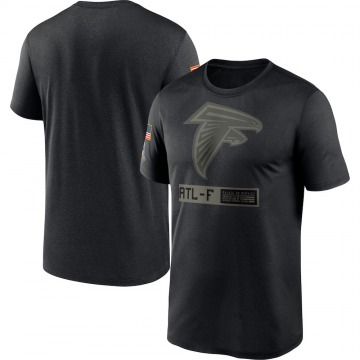 Men's Atlanta Falcons Black 2020 Salute to Service Team Logo Performance T-Shirt -