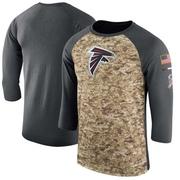 Men's Nike Atlanta Falcons Camo /Anthracite Salute to Service 2017 Sideline Performance Three-Quarter Sleeve T-Shirt - Legend