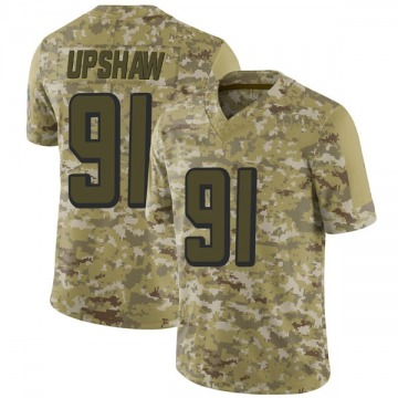 Men's Atlanta Falcons Courtney Upshaw Camo 2018 Salute to Service Jersey - Limited