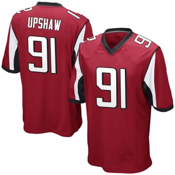 Men's Nike Atlanta Falcons Courtney Upshaw Red Team Color Jersey - Game