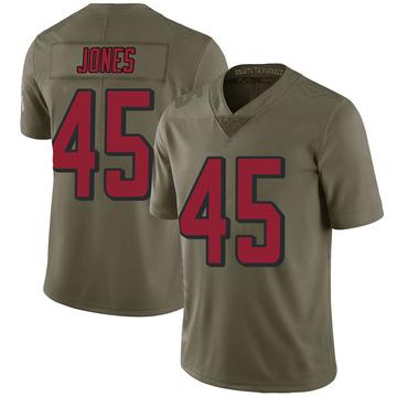 Men's Nike Atlanta Falcons Deion Jones Green 2017 Salute to Service Jersey - Limited