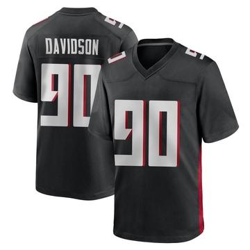 Men's Nike Atlanta Falcons Marlon Davidson Black Alternate Jersey - Game