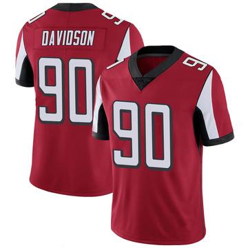 Men's Nike Atlanta Falcons Marlon Davidson Red 100th Vapor Jersey - Limited