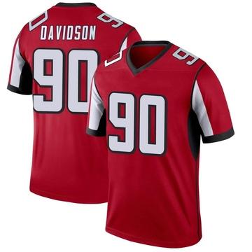 Men's Nike Atlanta Falcons Marlon Davidson Red Jersey - Legend