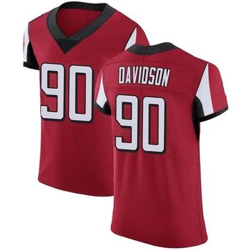 Men's Nike Atlanta Falcons Marlon Davidson Red Team Color Jersey - Elite