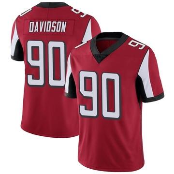 Men's Nike Atlanta Falcons Marlon Davidson Red Team Color Vapor Untouchable Jersey - Limited