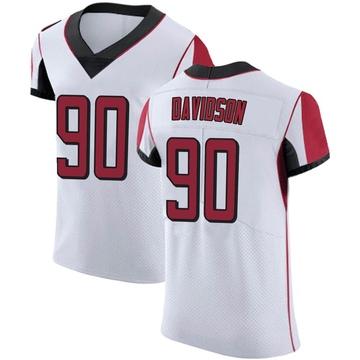 Men's Nike Atlanta Falcons Marlon Davidson White Jersey - Elite