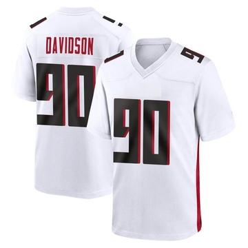Men's Nike Atlanta Falcons Marlon Davidson White Jersey - Game