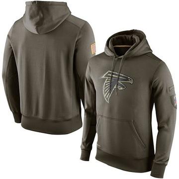 Men's Nike Atlanta Falcons Olive Salute To Service KO Performance Hoodie -