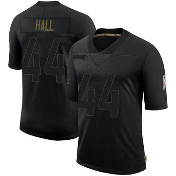 Men's Atlanta Falcons Tyler Hall Black 2020 Salute To Service Jersey - Limited