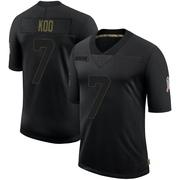 Men's Nike Atlanta Falcons Younghoe Koo Black 2020 Salute To Service Jersey - Limited