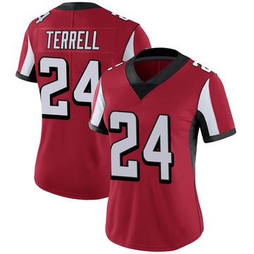 Women's Nike Atlanta Falcons A.J. Terrell Red 100th Vapor Jersey - Limited