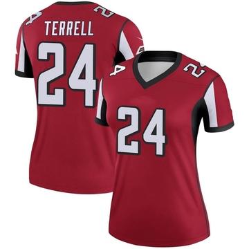 Women's Nike Atlanta Falcons A.J. Terrell Red Jersey - Legend
