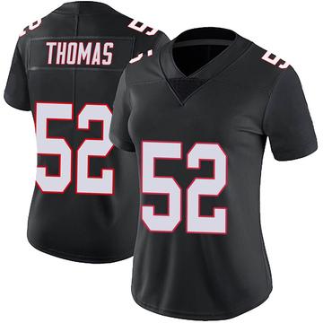 Women's Nike Atlanta Falcons Ahmad Thomas Black Vapor Untouchable Jersey - Limited