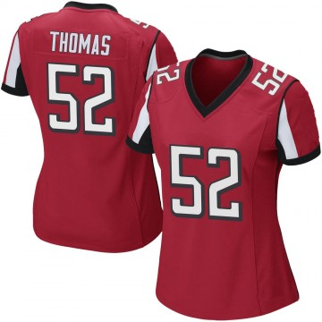 Women's Nike Atlanta Falcons Ahmad Thomas Red Team Color Jersey - Game