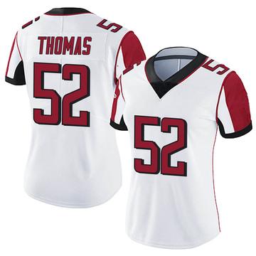 Women's Nike Atlanta Falcons Ahmad Thomas White Vapor Untouchable Jersey - Limited