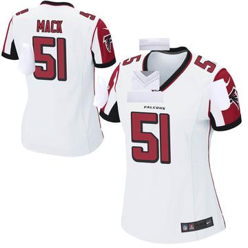 Women's Nike Atlanta Falcons Alex Mack White Jersey - Game