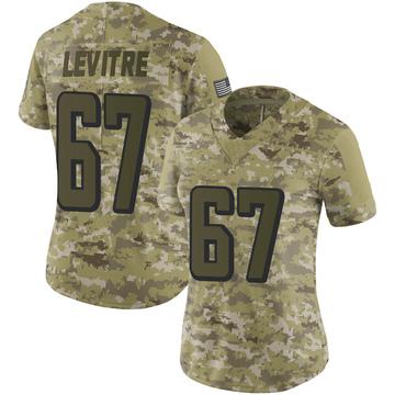 Women's Nike Atlanta Falcons Andy Levitre Camo 2018 Salute to Service Jersey - Limited