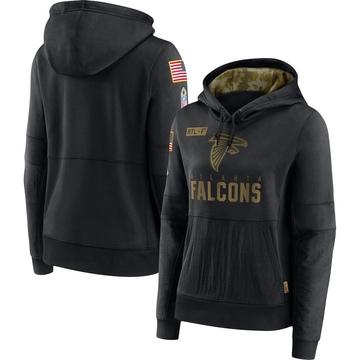 Women's Nike Atlanta Falcons Black 2020 Salute to Service Performance Pullover Hoodie -