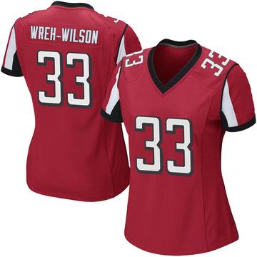 Women's Nike Atlanta Falcons Blidi Wreh-Wilson Red Team Color Jersey - Game