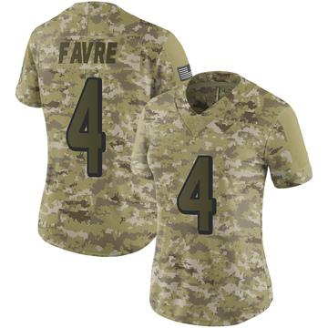 Women's Nike Atlanta Falcons Brett Favre Camo 2018 Salute to Service Jersey - Limited
