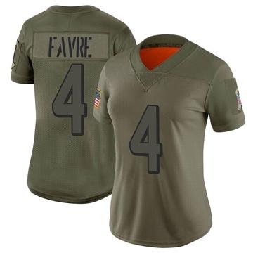 Women's Nike Atlanta Falcons Brett Favre Camo 2019 Salute to Service Jersey - Limited