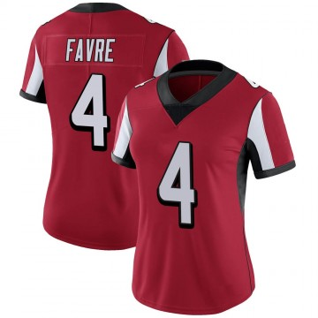 Women's Nike Atlanta Falcons Brett Favre Red 100th Vapor Jersey - Limited