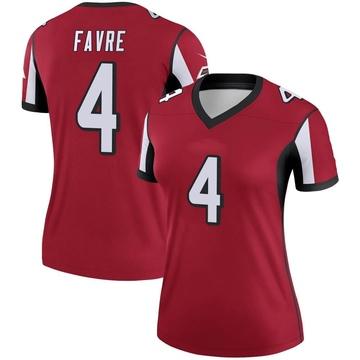 Women's Nike Atlanta Falcons Brett Favre Red Jersey - Legend