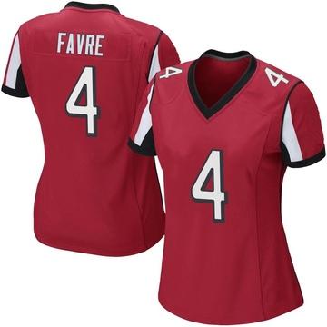 Women's Nike Atlanta Falcons Brett Favre Red Team Color Jersey - Game