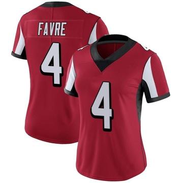 Women's Nike Atlanta Falcons Brett Favre Red Team Color Vapor Untouchable Jersey - Limited
