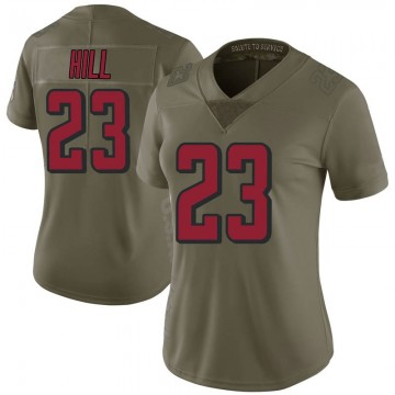 Women's Nike Atlanta Falcons Brian Hill Green 2017 Salute to Service Jersey - Limited