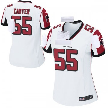 Women's Nike Atlanta Falcons Bruce Carter White Jersey - Game