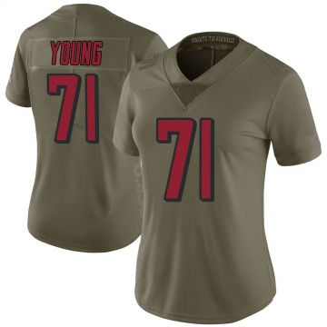 Women's Nike Atlanta Falcons Bryson Young Green 2017 Salute to Service Jersey - Limited