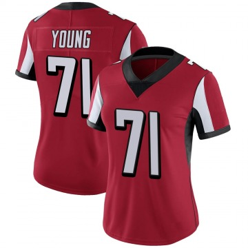 Women's Nike Atlanta Falcons Bryson Young Red 100th Vapor Jersey - Limited