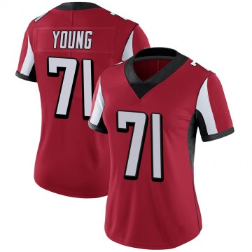 Women's Nike Atlanta Falcons Bryson Young Red Team Color Vapor Untouchable Jersey - Limited