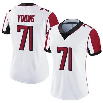 Women's Nike Atlanta Falcons Bryson Young White Vapor Untouchable Jersey - Limited