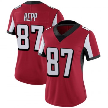 Women's Nike Atlanta Falcons Caleb Repp Red Team Color Vapor Untouchable Jersey - Limited