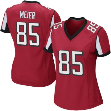 Women's Nike Atlanta Falcons Carson Meier Red Team Color Jersey - Game