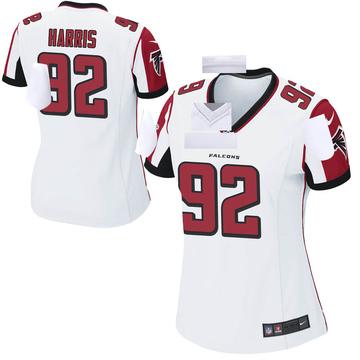 Women's Nike Atlanta Falcons Charles Harris White Jersey - Game