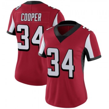 Women's Nike Atlanta Falcons Chris Cooper Red 100th Vapor Jersey - Limited