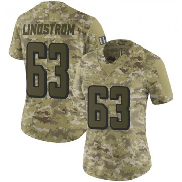 Women's Nike Atlanta Falcons Chris Lindstrom Camo 2018 Salute to Service Jersey - Limited
