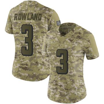 Women's Nike Atlanta Falcons Chris Rowland Camo 2018 Salute to Service Jersey - Limited