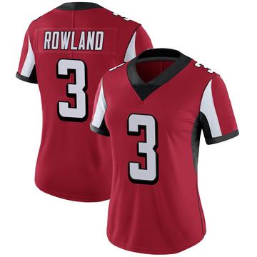 Women's Nike Atlanta Falcons Chris Rowland Red 100th Vapor Jersey - Limited