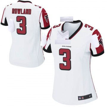 Women's Nike Atlanta Falcons Chris Rowland White Jersey - Game