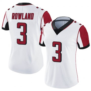 Women's Nike Atlanta Falcons Chris Rowland White Vapor Untouchable Jersey - Limited