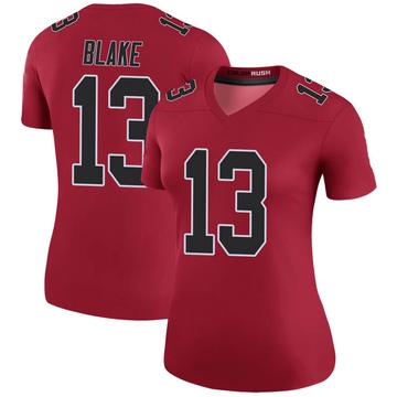 Women's Nike Atlanta Falcons Christian Blake Red Color Rush Jersey - Legend
