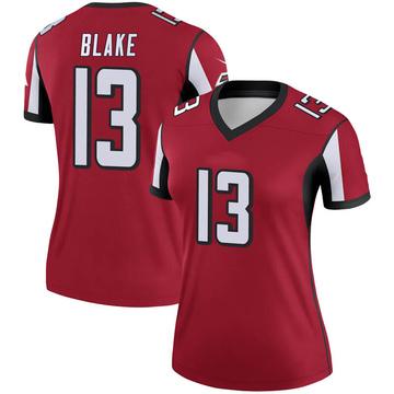 Women's Nike Atlanta Falcons Christian Blake Red Jersey - Legend