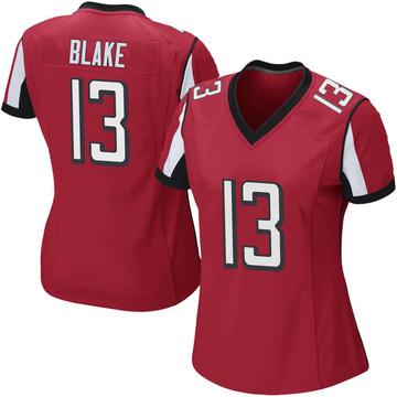 Women's Nike Atlanta Falcons Christian Blake Red Team Color Jersey - Game